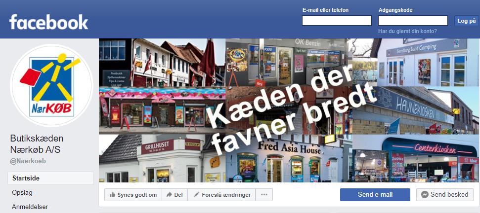 Butikskæden Nærkøb A/S har nu fået en Facebook virksomhedsprofil.