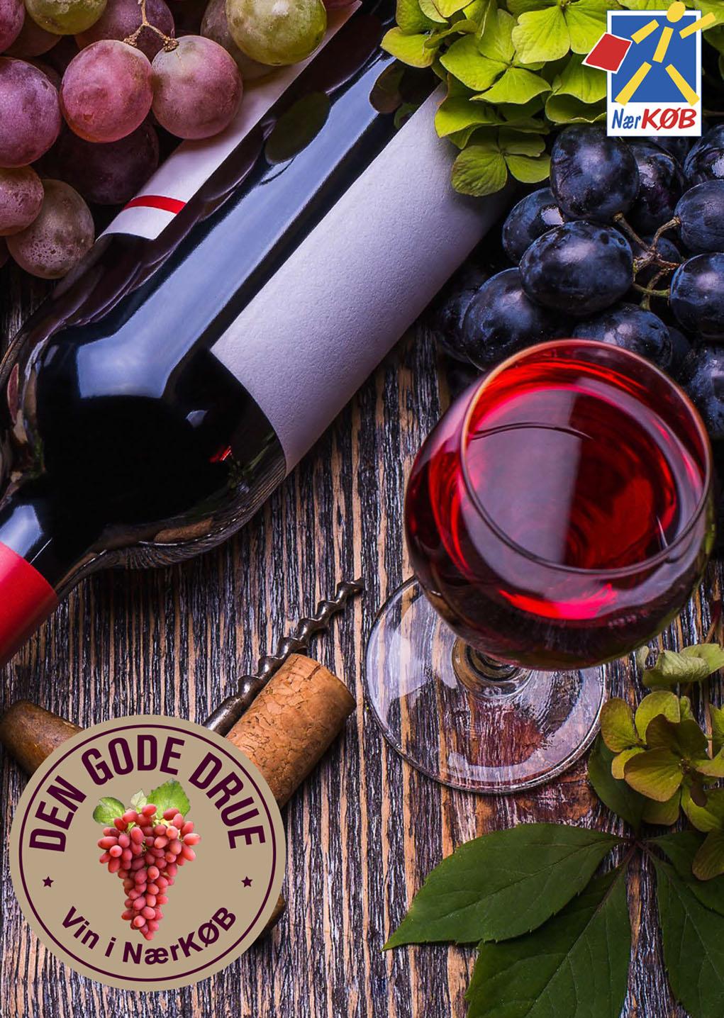 """""""DEN GODE DRUE"""" vin af en god kvalitet og med en god smagsoplevelse."""